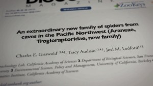 New Species Trogloraptor on Newspaper