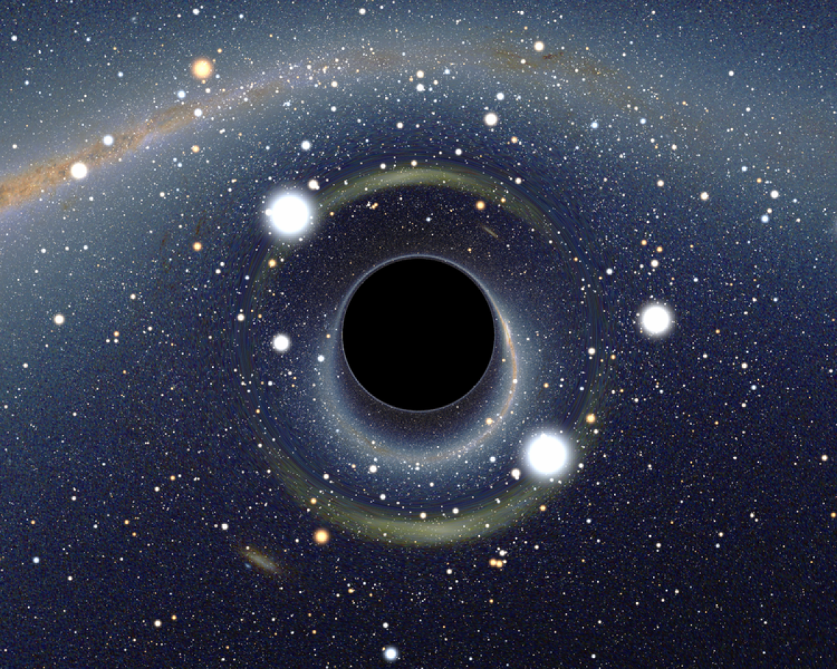 A blackhole and its event horizon