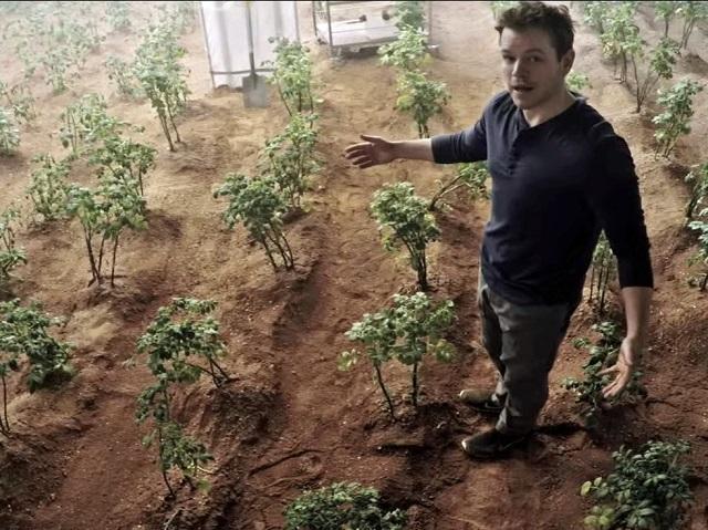 The Martian সিনেমায় মার্ক ওয়েটনি মঙ্গলের মাটিতে আলু চাষ করছে। একদিন হয়তো বাস্তবেই মঙ্গলের মাটিতে আলু, পটল, বেগুন ইত্যাদির চাষ হবে।